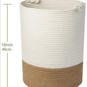 UBBCARE Large Cotton Rope Laundry Basket Woven